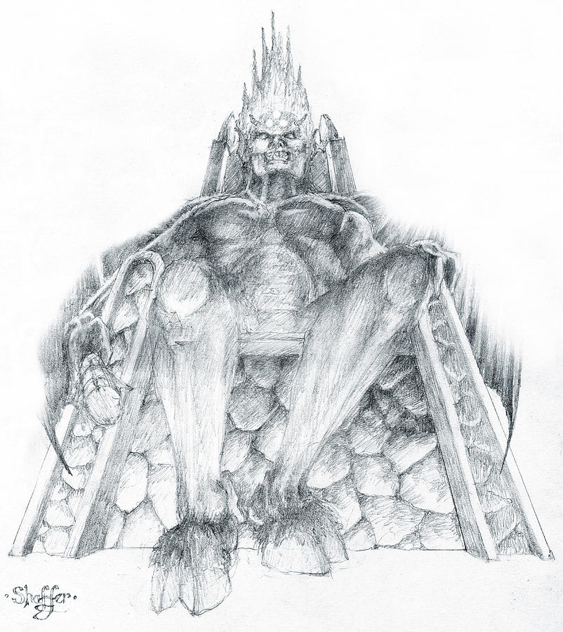 Morgoth Bauglir Drawing