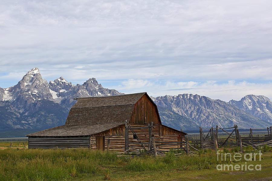Mormon Row Barn Grand Teton Np  Photograph