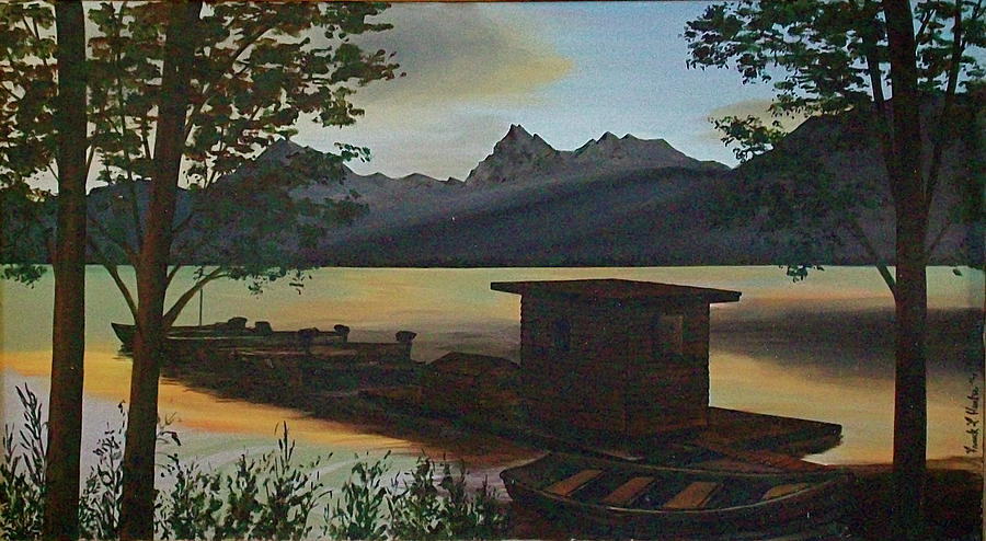 Morning At Lake Mcdonald Glacier Park Painting  - Morning At Lake Mcdonald Glacier Park Fine Art Print