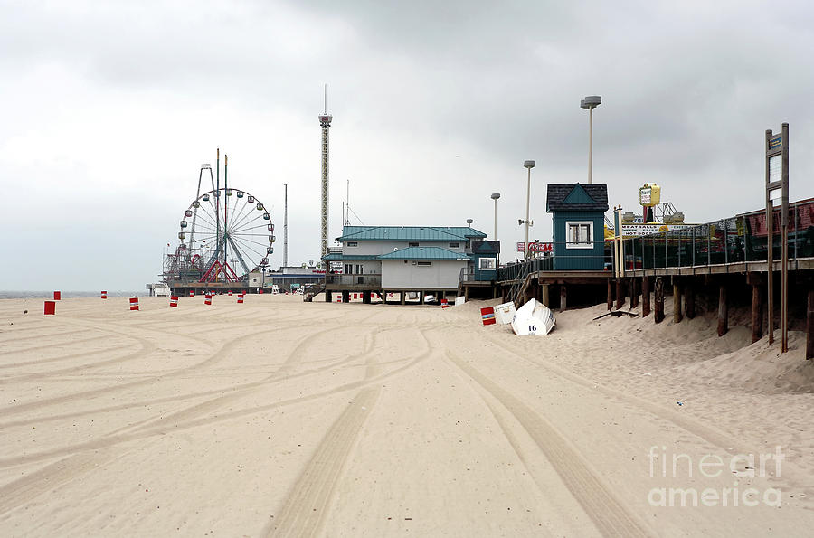 Morning At Seaside Heights Photograph
