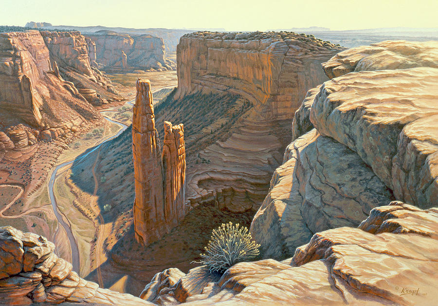 Morning At Spider Rock Painting
