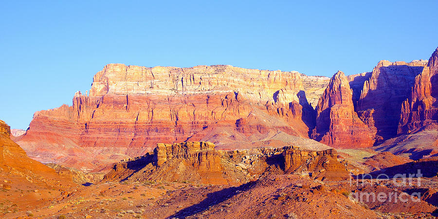 Morning At Vermillion Cliffs And Cathedral Canyon Photograph  - Morning At Vermillion Cliffs And Cathedral Canyon Fine Art Print