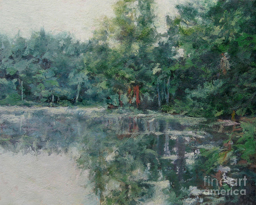 Morning Calm - Adirondacks Painting