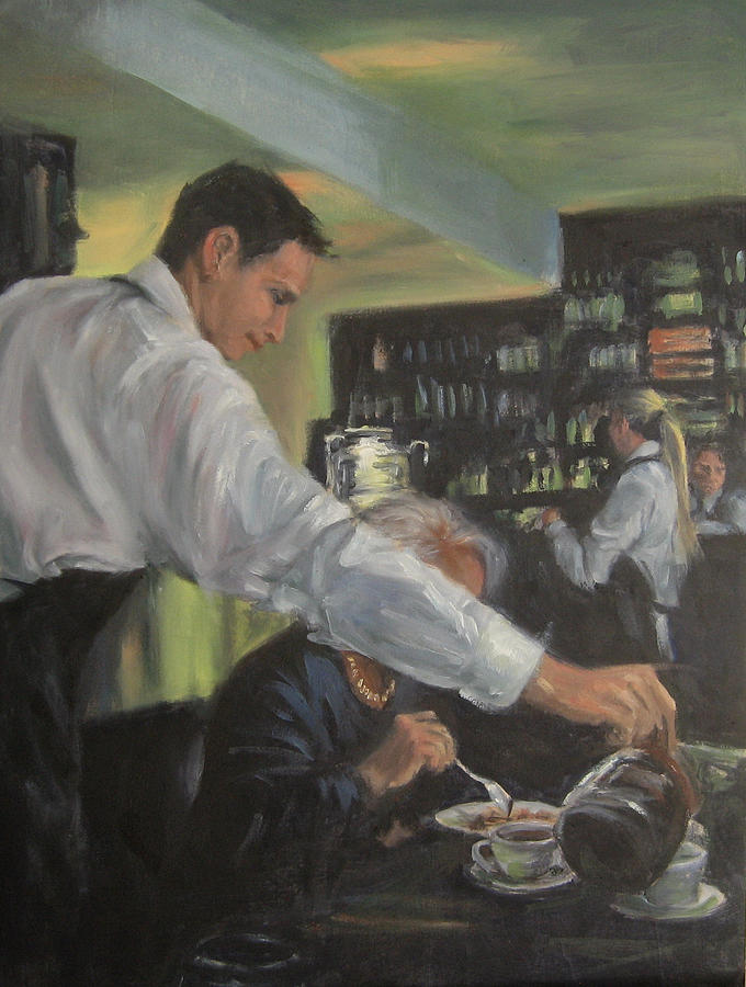morning coffee painting by connie schaertl