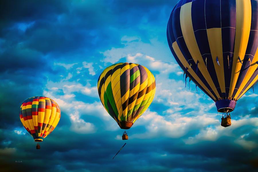 Hot Air Balloon Photograph - Morning Flight Hot Air Balloons by Bob Orsillo