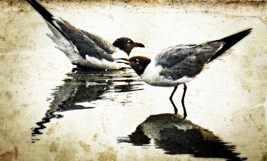 Seagull Painting - Morning Gulls - Seagull Art By Sharon Cummings by Sharon Cummings