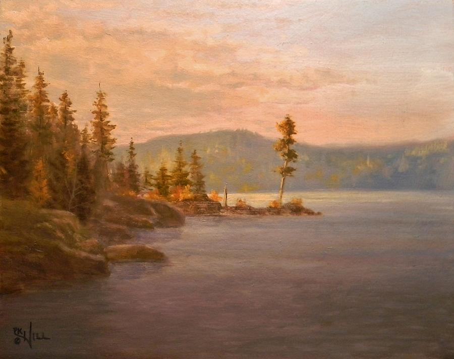 Morning Light On Coeur Dalene Painting  - Morning Light On Coeur Dalene Fine Art Print