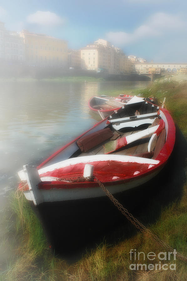 Morning Mist On The Arno River Italy Photograph