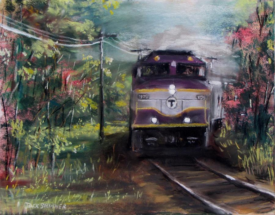 Train Painting - Morning Outbound by Jack Skinner