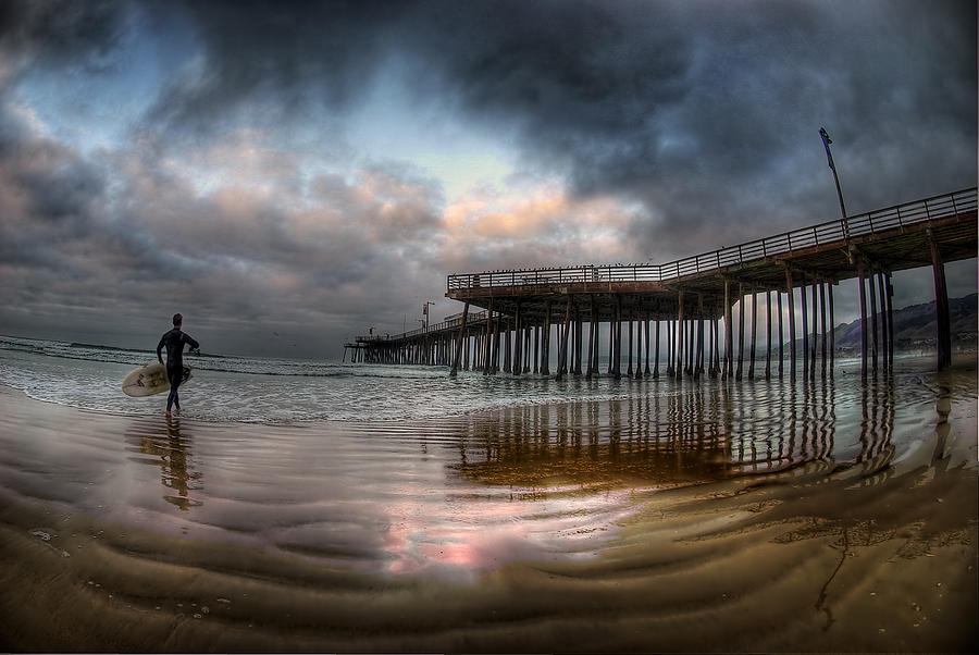 Morning Session In Pismo Photograph  - Morning Session In Pismo Fine Art Print