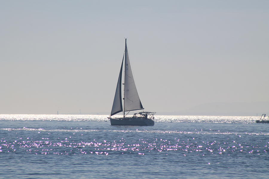 Sail Photograph - Morning Silver by Eugene Charkov