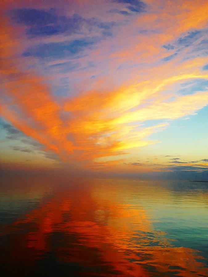 Morning Sky Ocracoke Island North Carolina Photograph - Morning Sky Ocracoke Nc by Joan Meyland