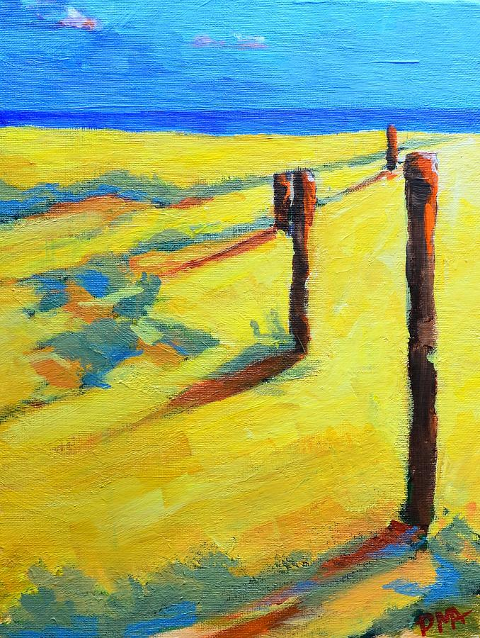 Morning Sun At The Beach Painting