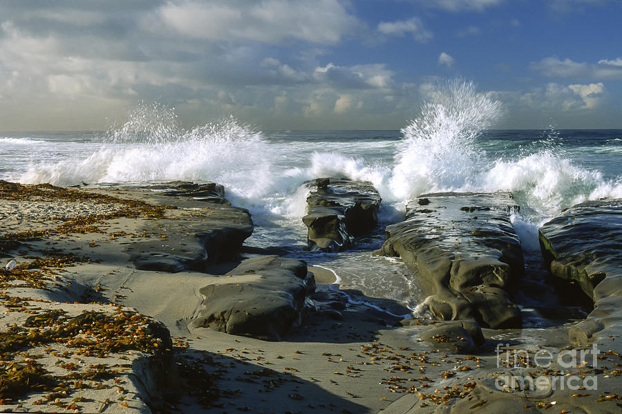 Morning Tide In La Jolla Photograph  - Morning Tide In La Jolla Fine Art Print