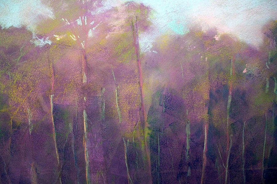 Morning Trees Painting