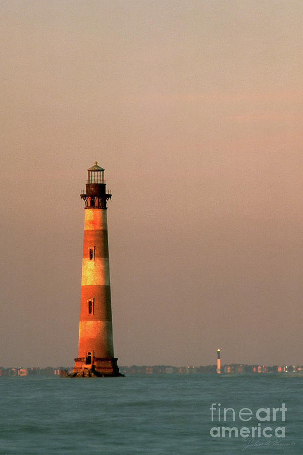 Transportation Photograph - Morris Island  And Sulivan Island Lighthouses  by John Harmon