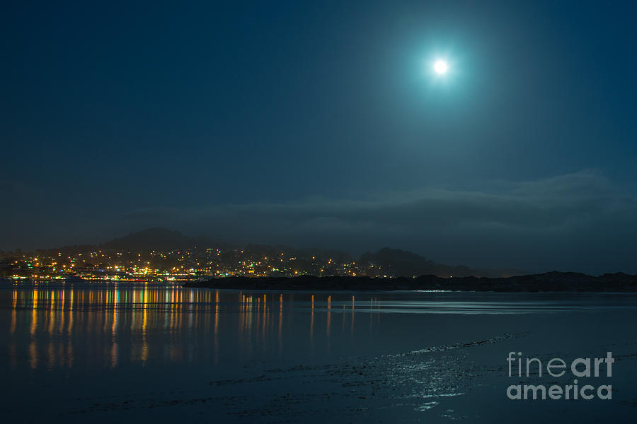 Morro Bay At Night Photograph  - Morro Bay At Night Fine Art Print