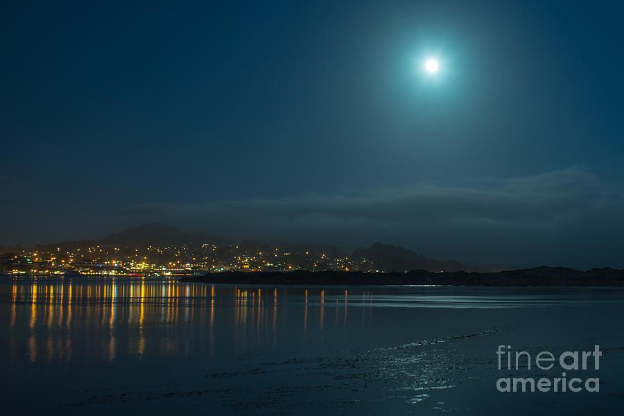 Morro Bay At Night Photograph