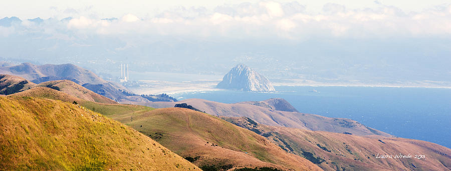 Morro Bay Rock Vista Overlooking Highway 46 Paso Robles California Photograph