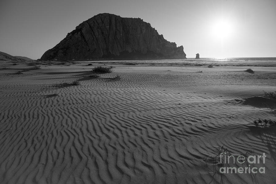 Morro Bay Photograph - Morro Rock Silhouette by Terry Garvin
