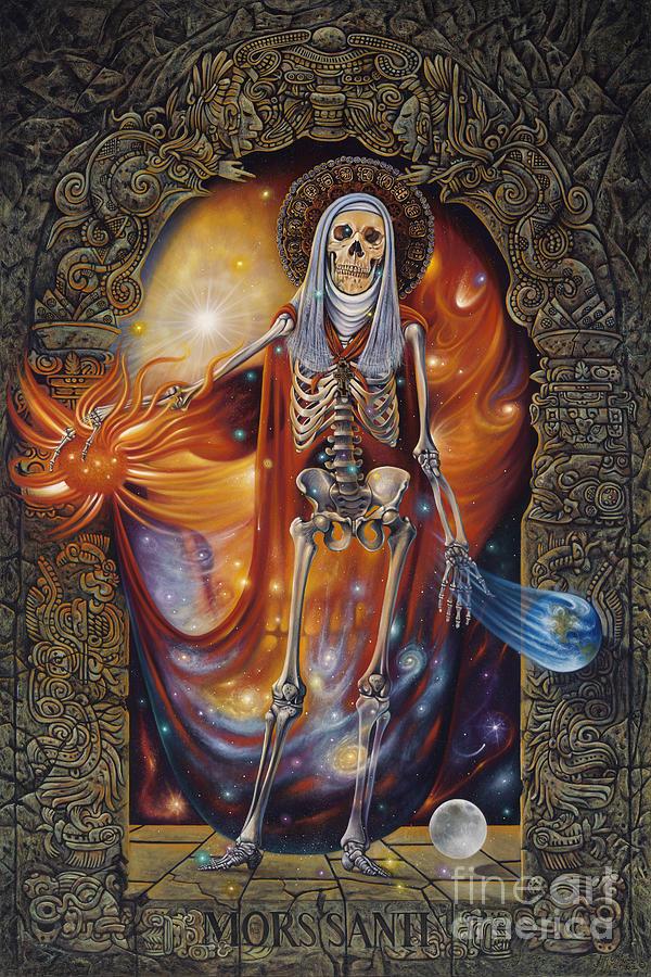 Mors Painting - Mors Santi by Ricardo Chavez-Mendez