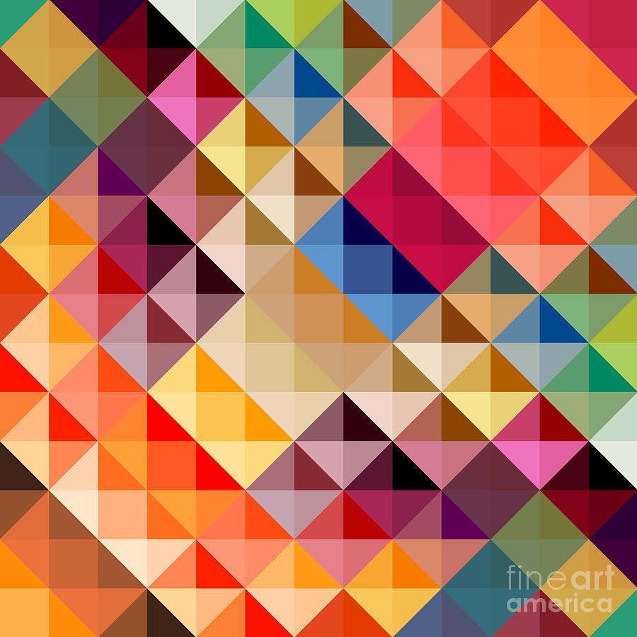 Shaynart Digital Art - Mosaic by Donika Nikova