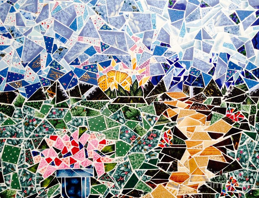 Mosaic Garden Path Tapestry - Textile