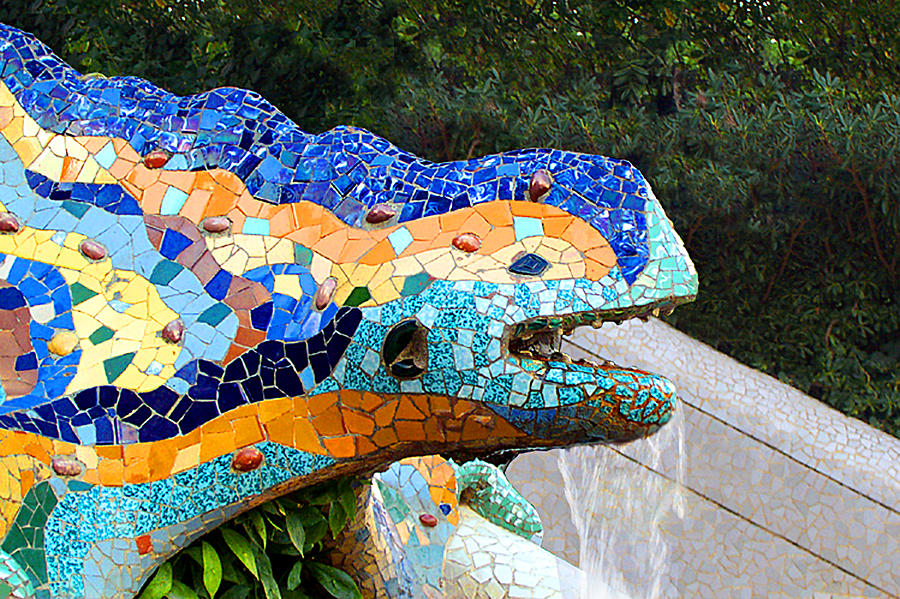 mosaic gaudi lizard photograph by artistic photos. Black Bedroom Furniture Sets. Home Design Ideas