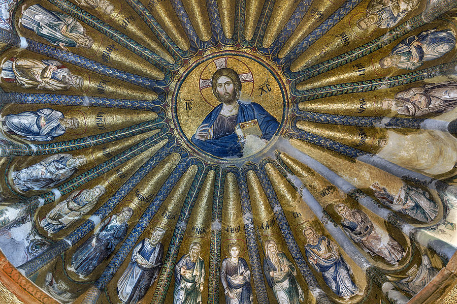 Mosaic Of Christ Pantocrator Photograph - Mosaic Of Christ Pantocrator by Ayhan Altun
