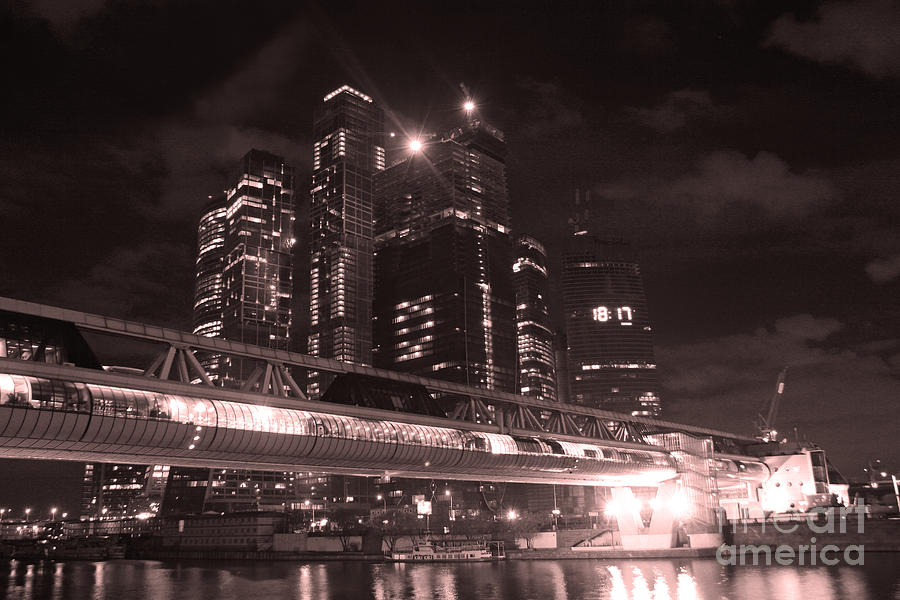 Moscow At Night Photograph