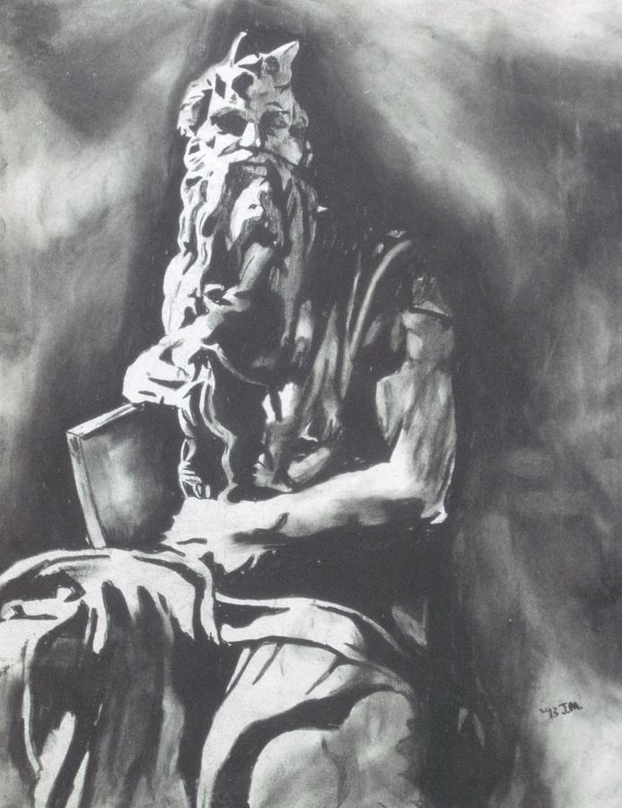 Moses Drawing  - Moses Fine Art Print