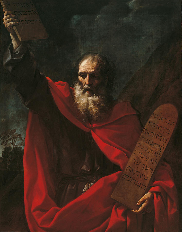 Moses With The Tables Of The Law Painting
