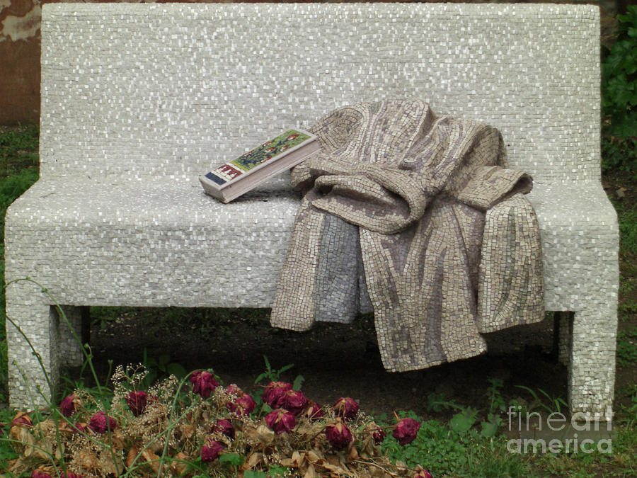 Mosiac Bench Photograph  - Mosiac Bench Fine Art Print