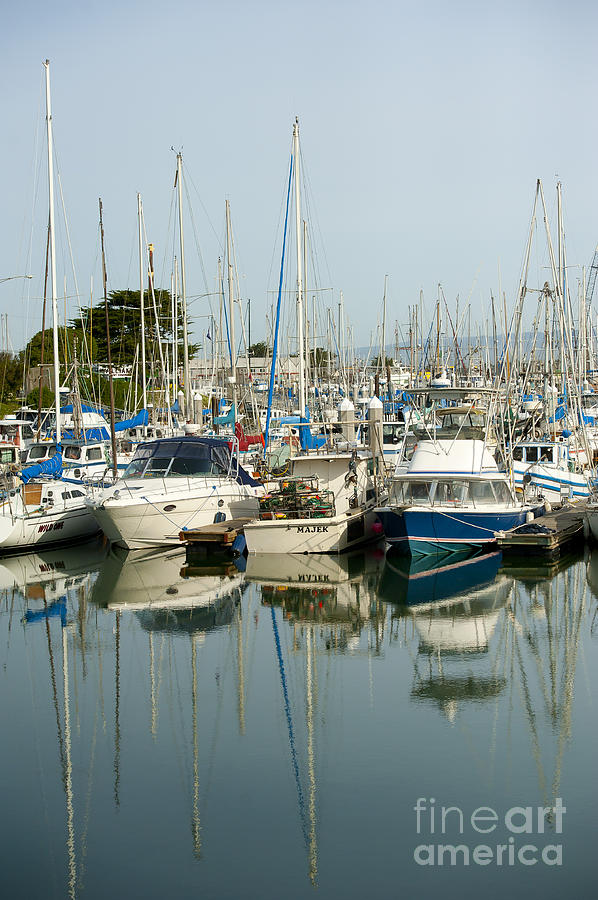 Moss Landing Harbor Photograph - Moss Landing Boat Harbor by Artist and Photographer Laura Wrede