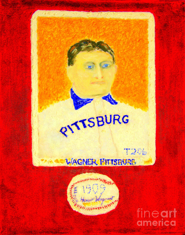 Most Expensive Baseball Card Honus Wagner T206 2 Painting