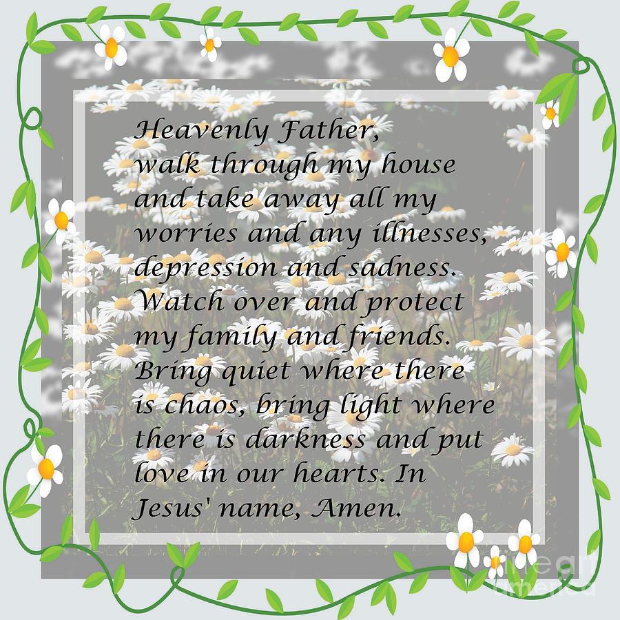 Most powerful prayer with daisies digital art most powerful prayer