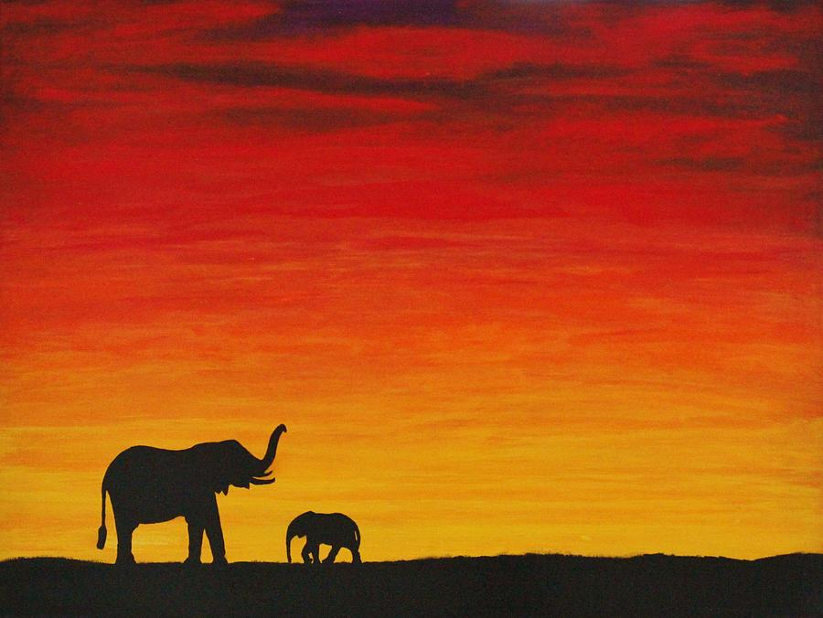 African Painting - Mother Africa 1 by Michael Cross