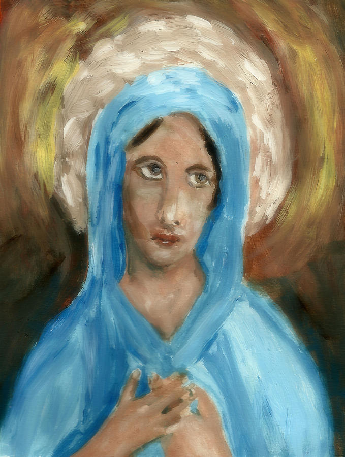 Mary Painting - Mother Mary by Peg Holmes