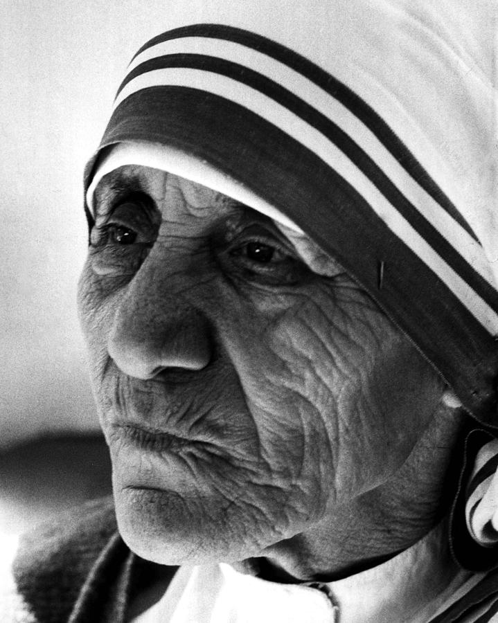 Mother Teresa Close Up Photograph