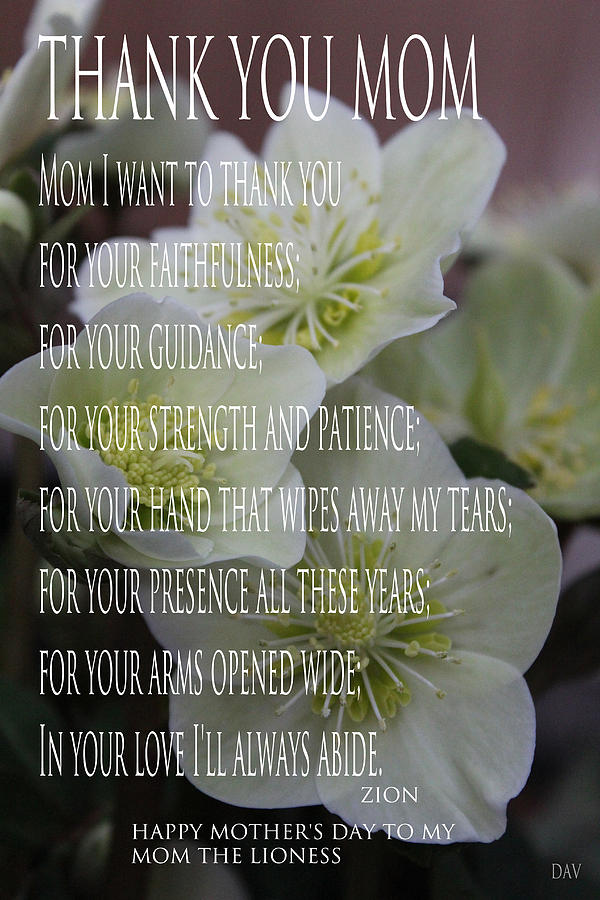 Mothers Day  Poem Photograph