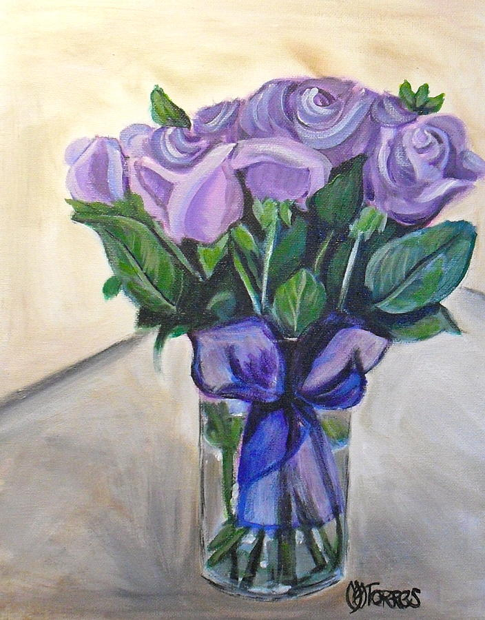 Mothers Day Roses Painting  - Mothers Day Roses Fine Art Print
