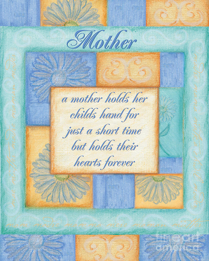 Mothers Day Spa Card Painting  - Mothers Day Spa Card Fine Art Print