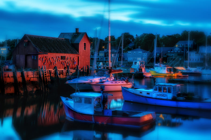 Motif Number One Photograph - Motif No 1 Rockport Massachusetts by Thomas Schoeller