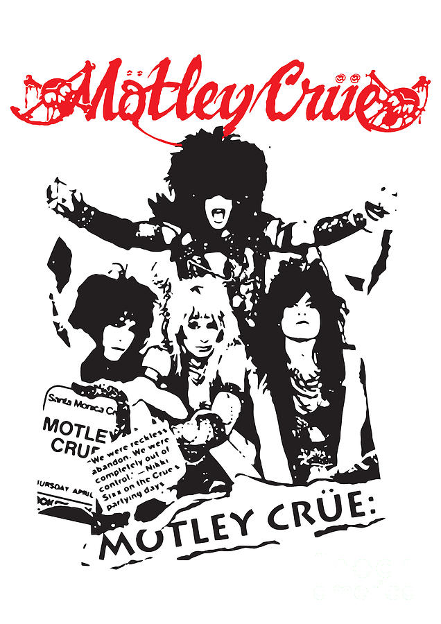 Motley Crue No.01 Digital Art  - Motley Crue No.01 Fine Art Print