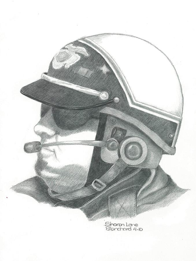 Motorcycle Officer On The Job Drawing