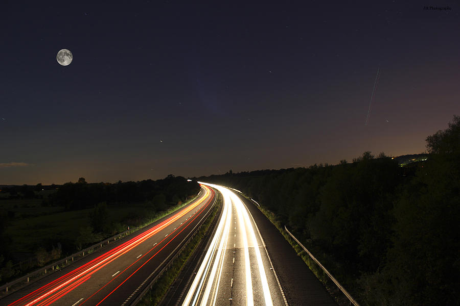 Motorway Light Trails Photograph