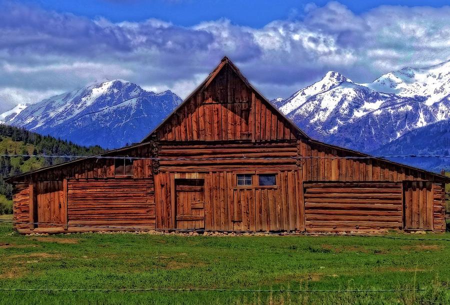 Moulton Barn In Spring Photograph