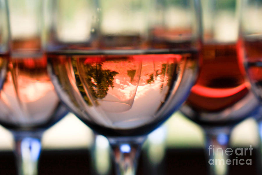 Mount Hood In A Wine Glass Photograph
