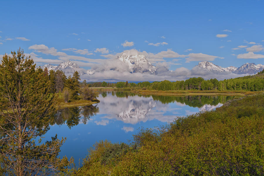 Mount Moran On Oxbow Bend Photograph