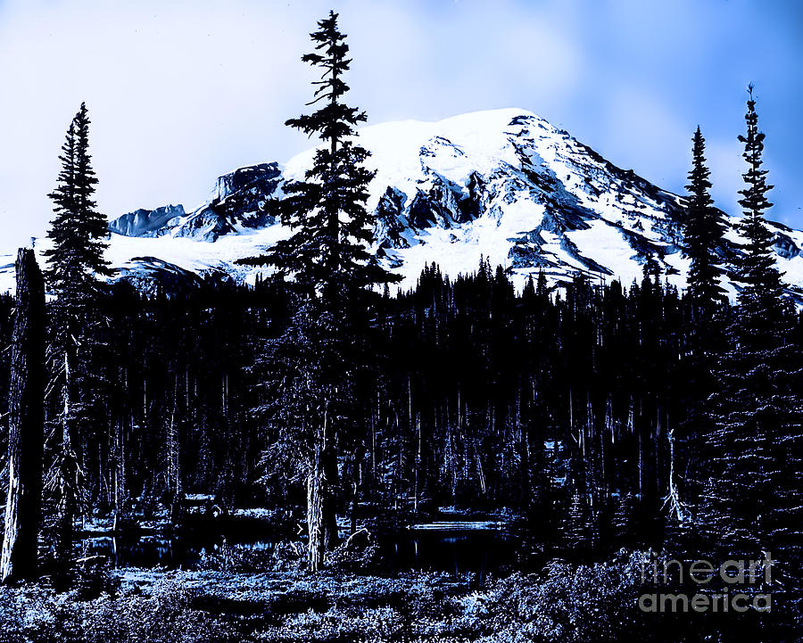 Mount Rainier Blue... Photograph